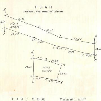 Продаж земельної ділянки у с. Пнів