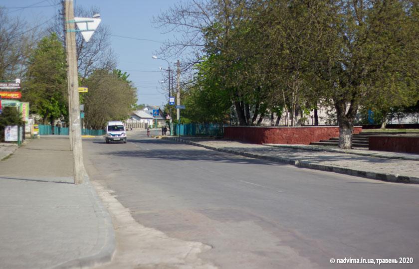 Вулиця Шевченка в Надвірній
