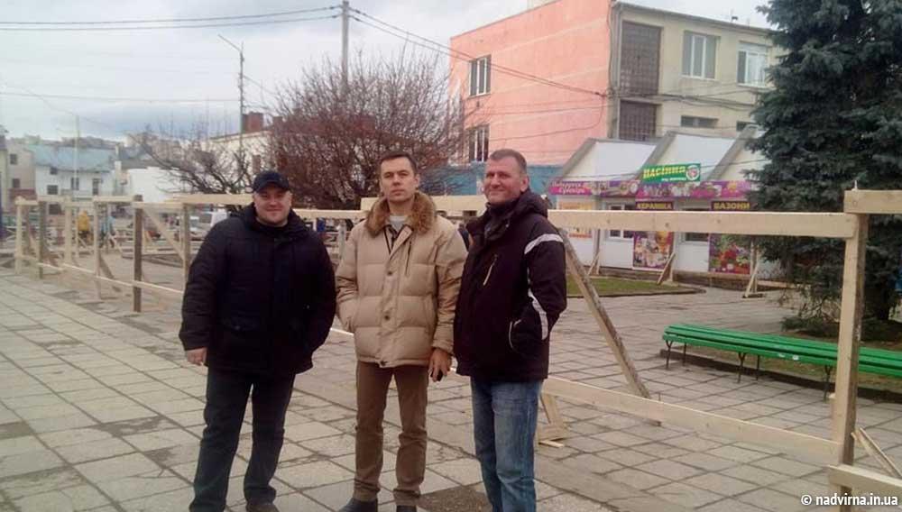 Надвірнянські свободівці зупинили незаконну забудову в центрі міста