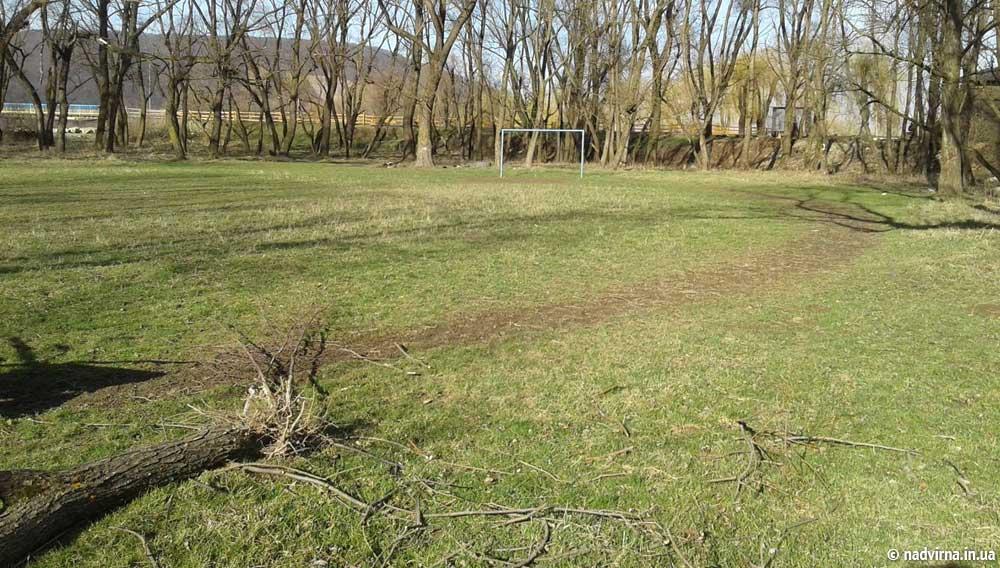 Молодь Надвірної упорядкувала футбольний майданчик