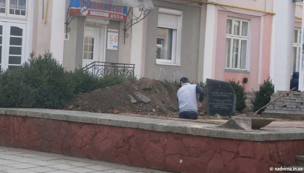 Встановлення пам'ятника героям-чорнобильцям