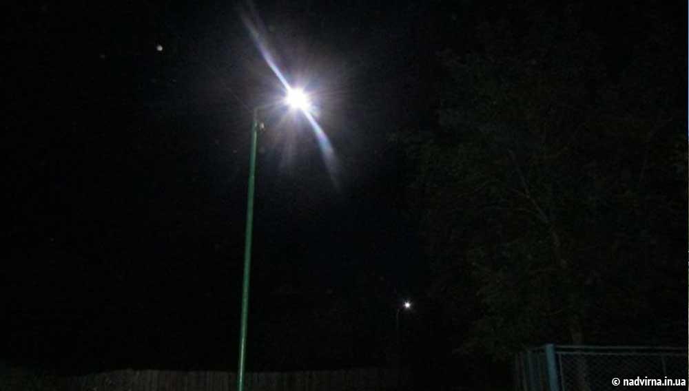 В Надвірній цього року облаштували освітленням шість нових вулиць та провулків