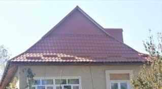 Замінено покрівлю даху на будинку №25 по вул.Руднєва