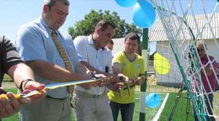 Відкриття футбольного майданчика зі штучним покриттям в с.Перерісль