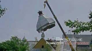 Новий купол для церкви Воздвиження Чесного Хреста